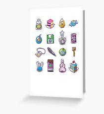 RPG Item Inventory Greeting Card