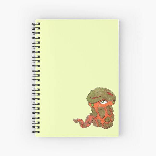 Rock, Gem Worm Sticker Spiral Notebook