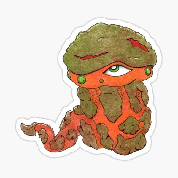 Rock, Gem Worm Sticker Sticker