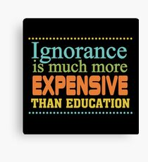 Educational Text Quotes Sayings  Canvas Print