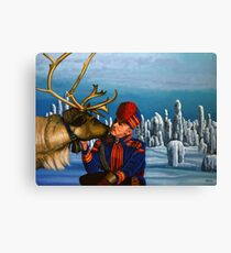 Deer Friends Of Finland Painting Canvas Print