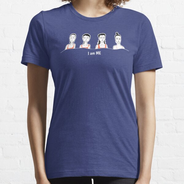 The amusing  face of woman with letter I am ME Essential T-Shirt