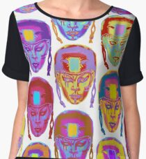 Roller Derby Girl Pattern Women's Chiffon Top