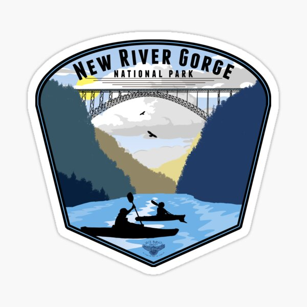 New River Gorge National Park Badge Sticker