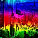Pop art NYC Skyline by ShellyKay
