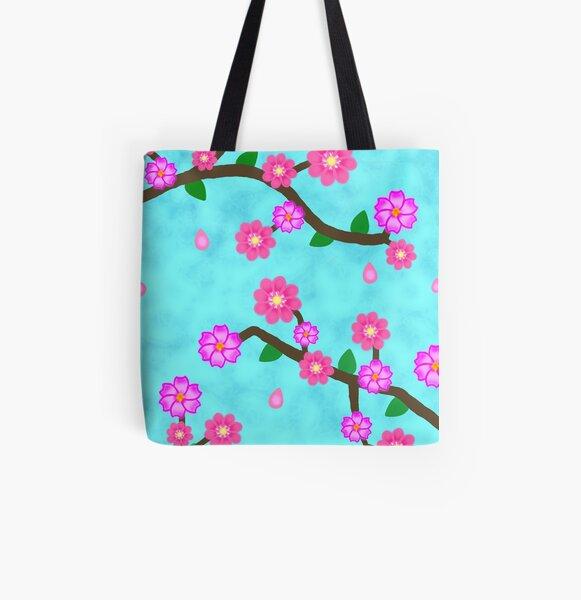 Cherry Blossom All Over Print Tote Bag