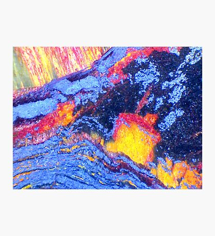 Volcanic Landscape (Tiger Eye) Photographic Print