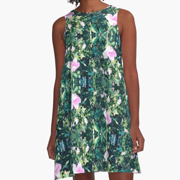 Roses in a Row A-Line Dress