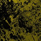 Black On Foil - Black And Gold Abstract Painting by Printpix