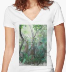 Jungle Women's Fitted V-Neck T-Shirt