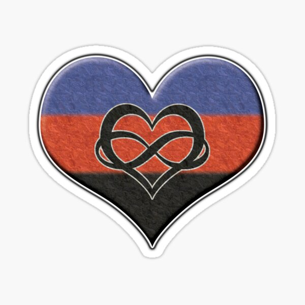 Polyamory Pride Heart Sticker