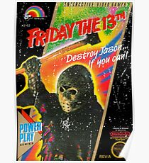 Póster NES Friday the 13th Distressed Cover