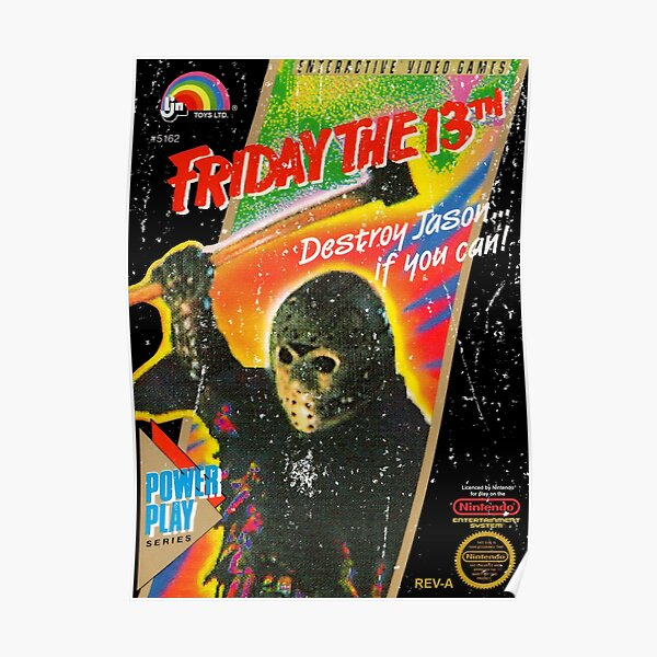 NES Friday the 13th Distressed Cover Poster