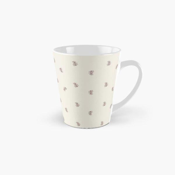 Brown and Cream Floral Leaf Pattern Tall Mug