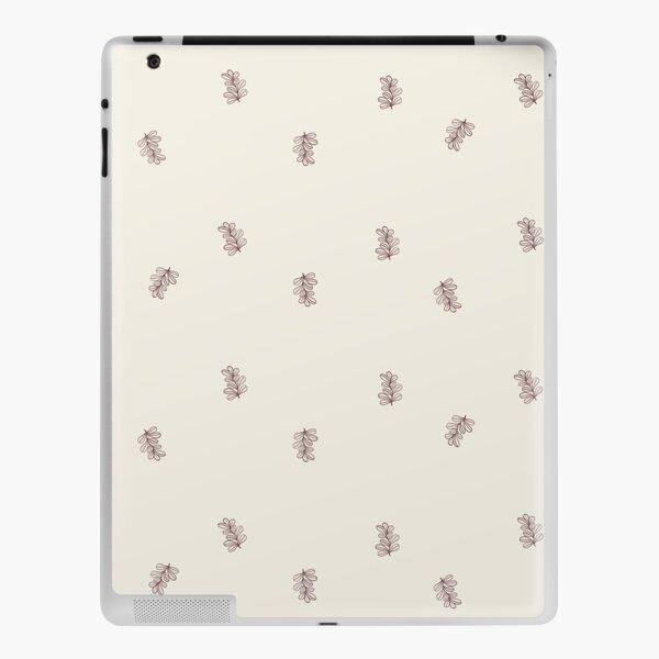 Brown and Cream Floral Leaf Pattern iPad Skin