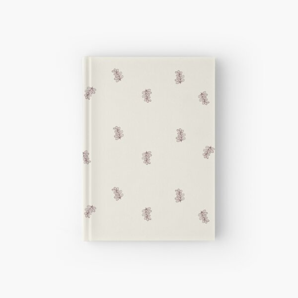 Brown and Cream Floral Leaf Pattern Hardcover Journal