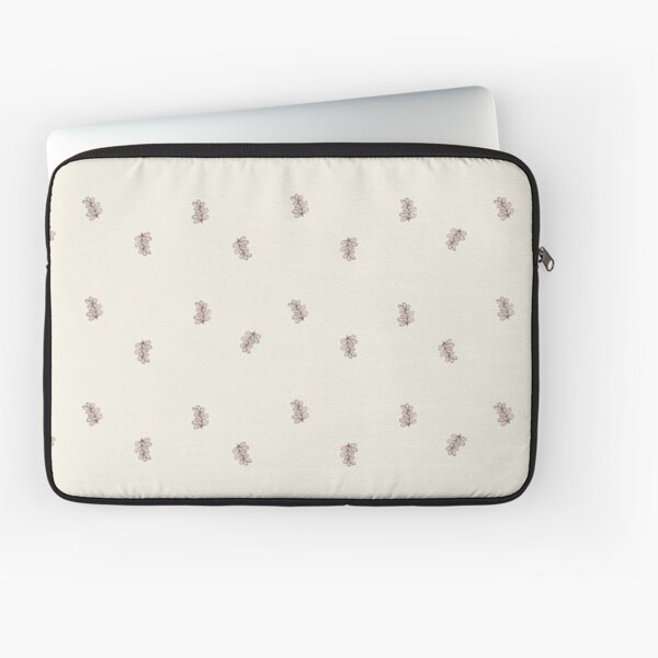 Brown and Cream Floral Leaf Pattern Laptop Sleeve