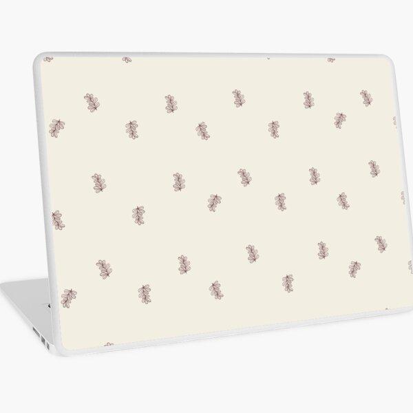 Brown and Cream Floral Leaf Pattern Laptop Skin