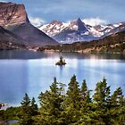 St Mary Lake Glacier National Park, Montana by Kathy Weaver