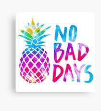 No Bad Days (tie dye) Canvas Print