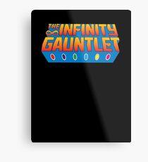 Infinity Gauntlet - Classic Title - Clean Metal Print