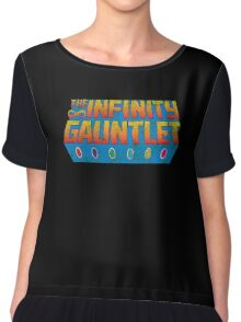 Infinity Gauntlet - Classic Title - Dirty Chiffon Top