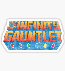 Infinity Gauntlet - Classic Title - Dirty Sticker