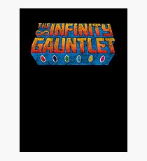 Infinity Gauntlet - Classic Title - Dirty Photographic Print