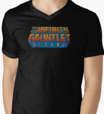 Infinity Gauntlet - Classic Title - Dirty Men's V-Neck T-Shirt