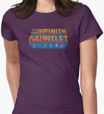 Infinity Gauntlet - Classic Title - Dirty Womens Fitted T-Shirt