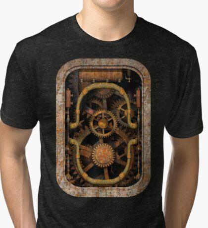 Infernal Steampunk Vintage Machine #1 Tri-blend T-Shirt