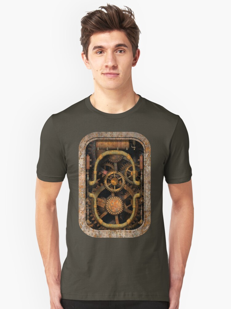 Infernal Steampunk Vintage Machine #1 Unisex T-Shirt Front