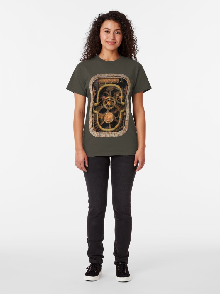 Alternate view of Infernal Steampunk Vintage Machine #1 Classic T-Shirt