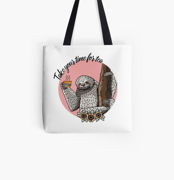 Tea relaxes body, mind and soul All Over Print Tote Bag