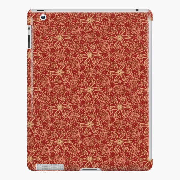 Flowers and leaves  kaleidoscope red iPad Snap Case