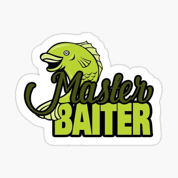 Funny Fishing Master Baiter Word Play Pun Sticker
