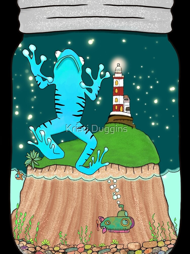 Poisonous Dart Frog and Lighthouse, Terrarium Jar No. 6 by BohoBear