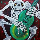 Skeleton Guitarist by Laura Barbosa