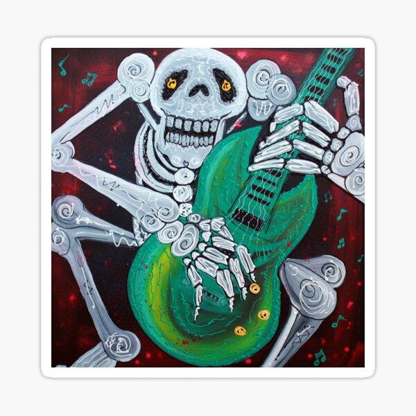 Skeleton Guitarist Sticker