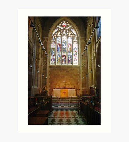 Altar—Saint David's Cathedral, Hobart Art Print