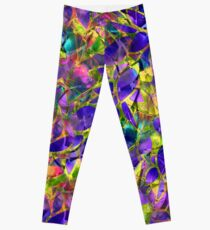 Floral Abstract Stained Glass Leggings