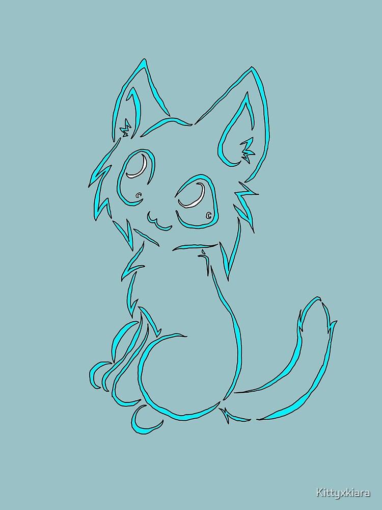 Tribal like cat-Baby Blue by Kittyxkiara