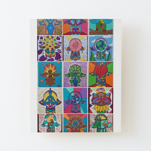 Assorted Hamsa #1 by Harriette Knight Wood Mounted Print
