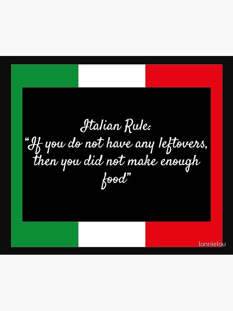 Italian Rule by lonnielou