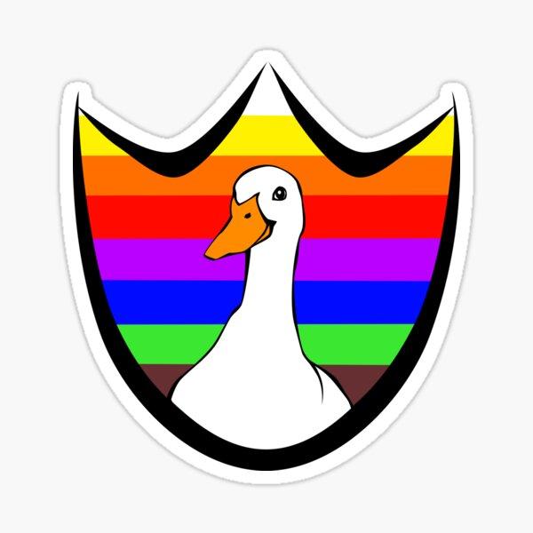 Dux Over the Rainbow Sticker
