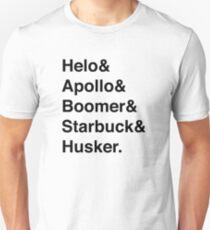 Battlestar Galactica BSG Helvetica Ampersand List T-Shirt
