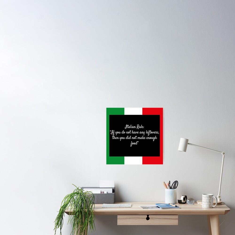 Italian Rule Poster