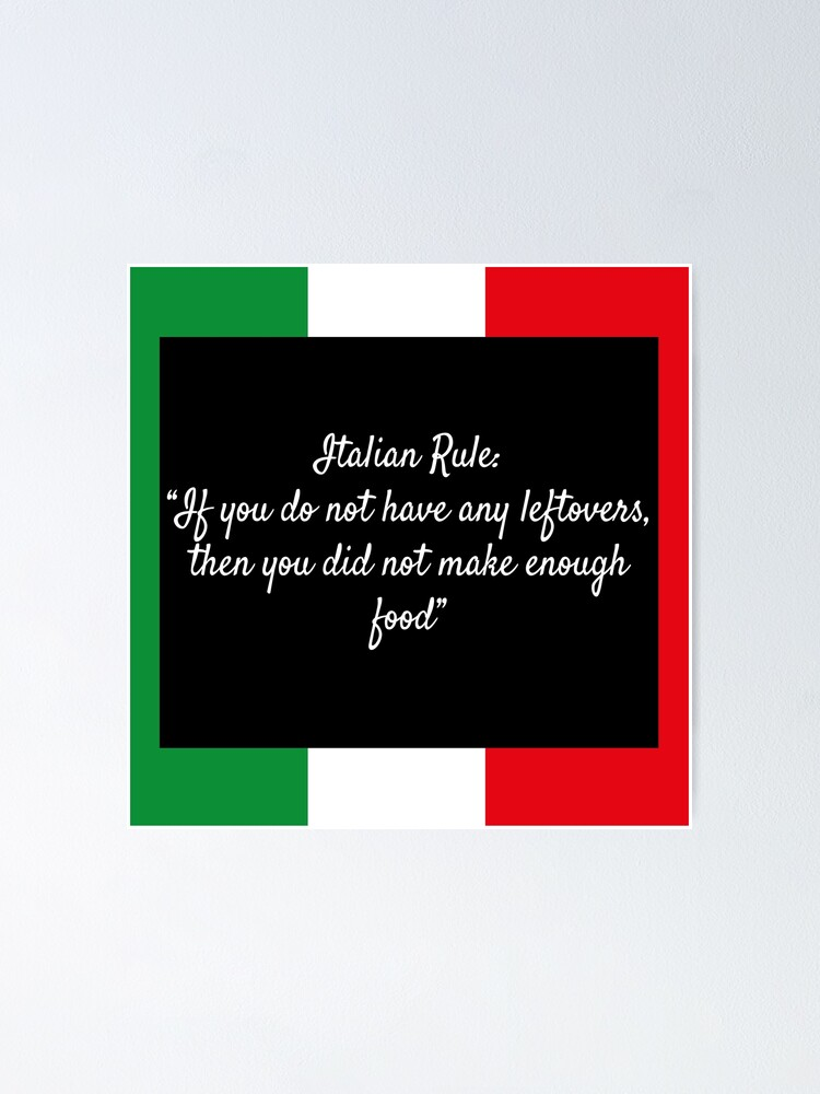Alternate view of Italian Rule Poster
