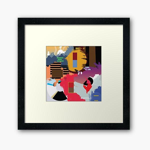 kanye albums collage Framed Art Print