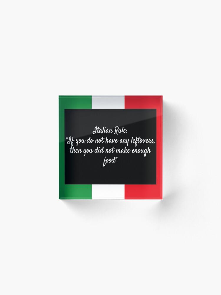 Alternate view of Italian Rule Acrylic Block